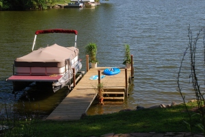 Sturdy new Pier on Lake Redstone